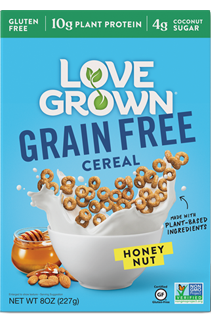 Love Grown Grain Free Cereal Honey Nut