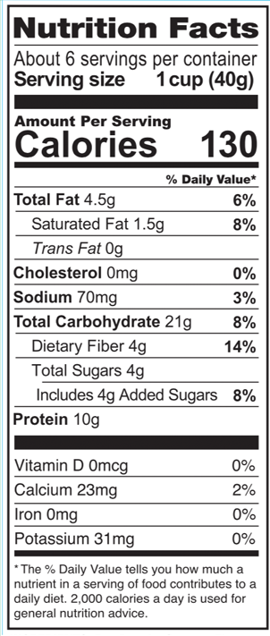 Love Grown Grain Free Cereal Honey Nut Nutrition Facts