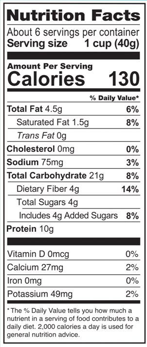 Love Grown Grain Free Cereal Toasted Coconut Almond Nutrition Facts