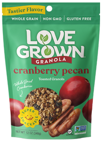 Love Grown granola cranberry pecan
